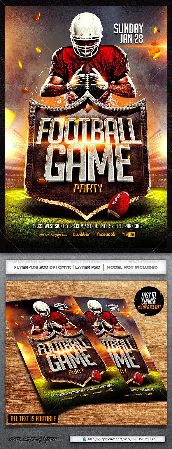 football flyer template by industrykidz graphicriver