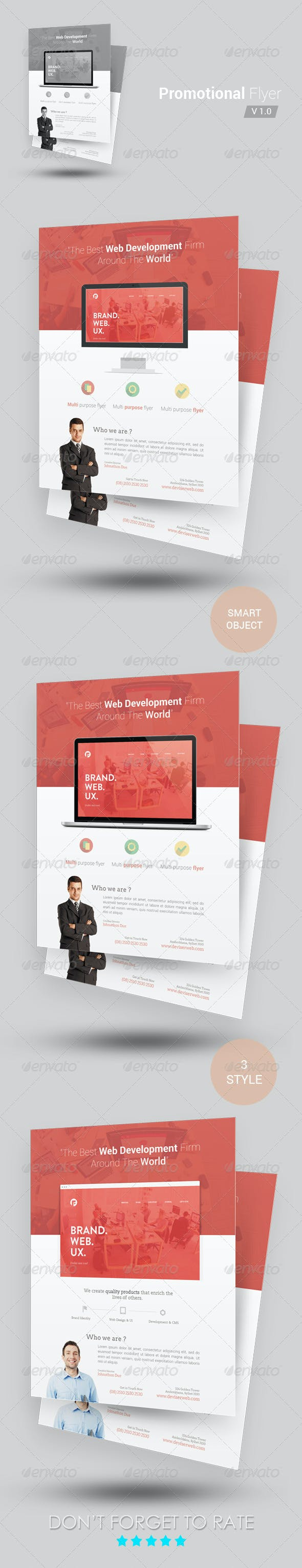 promotional flyer template by rtralrayhan graphicriver