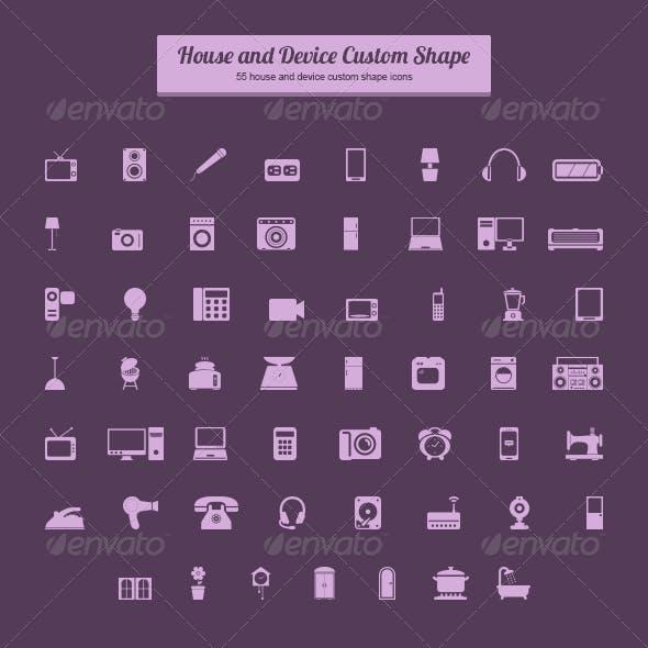 House and Device Custom Shape
