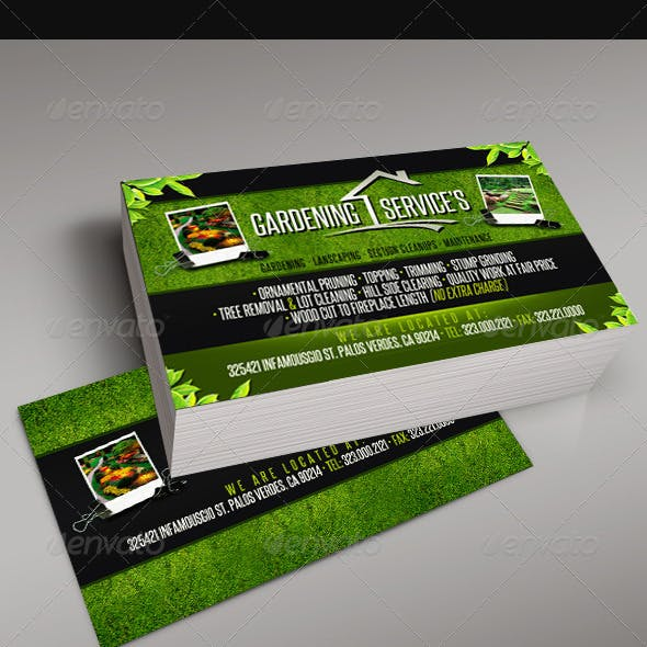 Gardening business card templates designs from graphicriver gardening business card 5 wajeb Choice Image