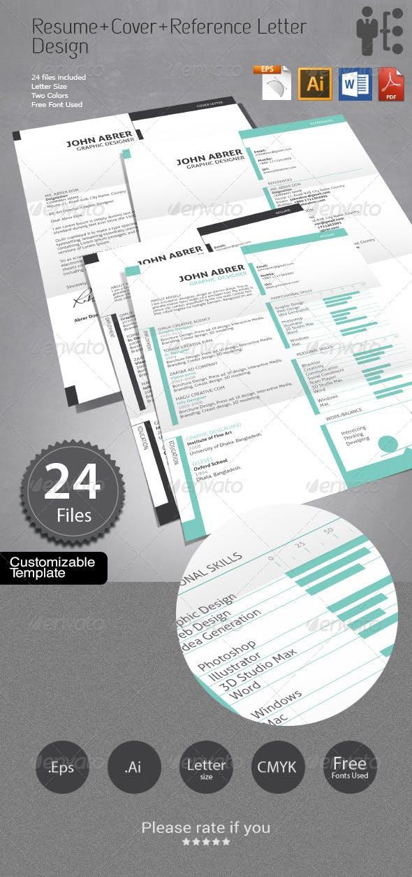 Resume+Cover Letter+References Design by handart ...