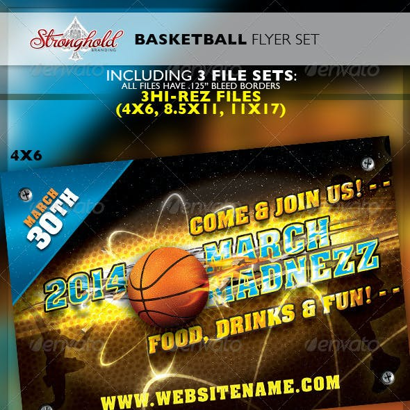 basketball tournament flyer graphics designs templates