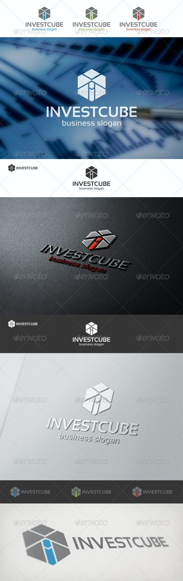 invest cube logo template by djjeep graphicriver
