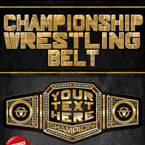 championship wrestling belt graphics designs template