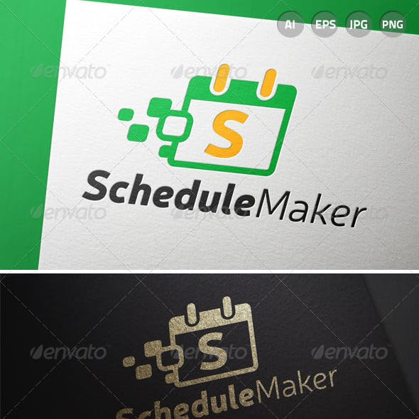 automated schedule logo templates from graphicriver