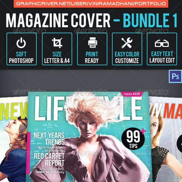Follow Magazine Graphics Designs Templates From