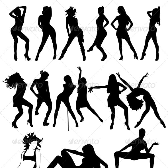 silhouette dancing graphics designs templates