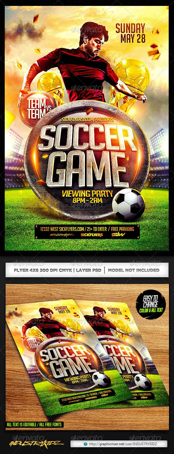 soccer flyer template psd by industrykidz graphicriver