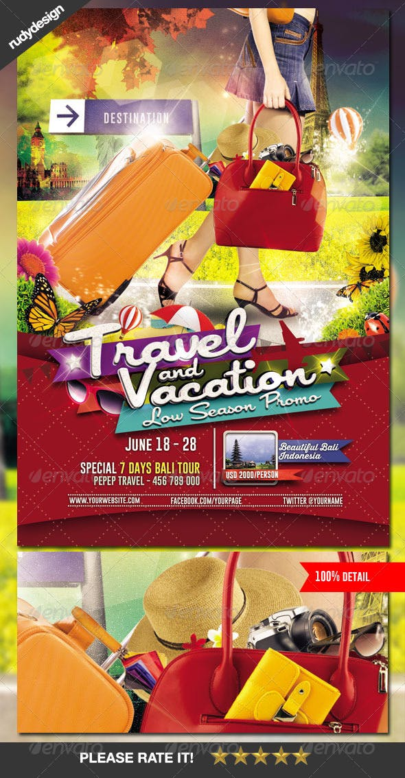 travel tour and vacation flyer by rudydesign graphicriver