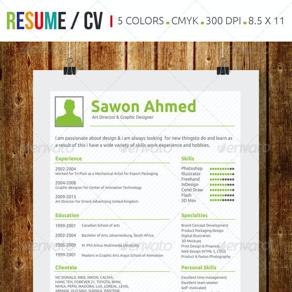 Curriculum Vitae Graphics Designs Templates From Graphicriver