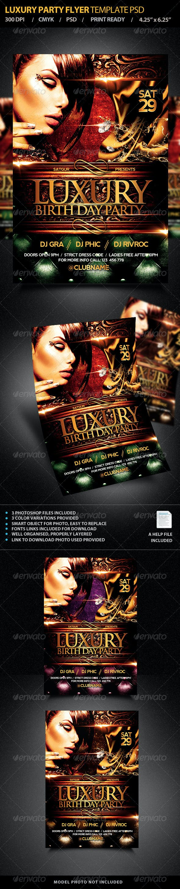 Luxury Party Flyer Template Psd By Satgur Graphicriver
