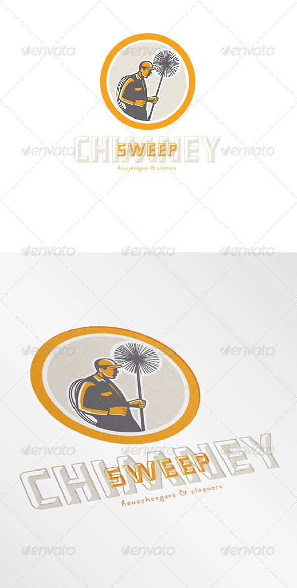 chimney sweep cleaners logo by patrimonio graphicriver