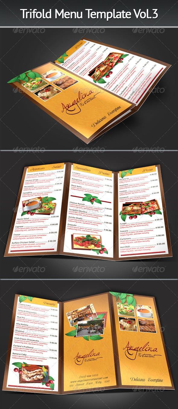 trifold menu template vol 3 by mograsol graphicriver