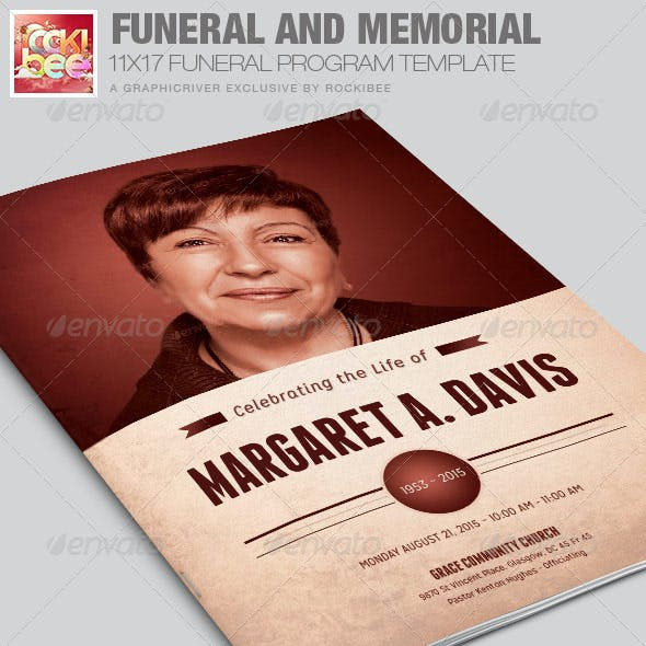 memorial program graphics designs templates from graphicriver