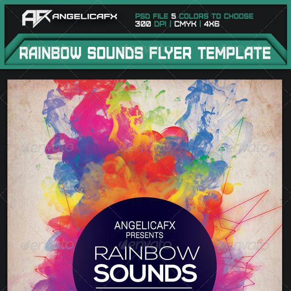 rainbow flyer graphics designs templates from graphicriver