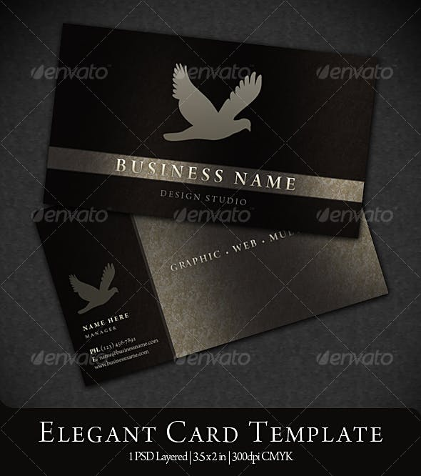 Elegant Business Card By Eamejia Graphicriver
