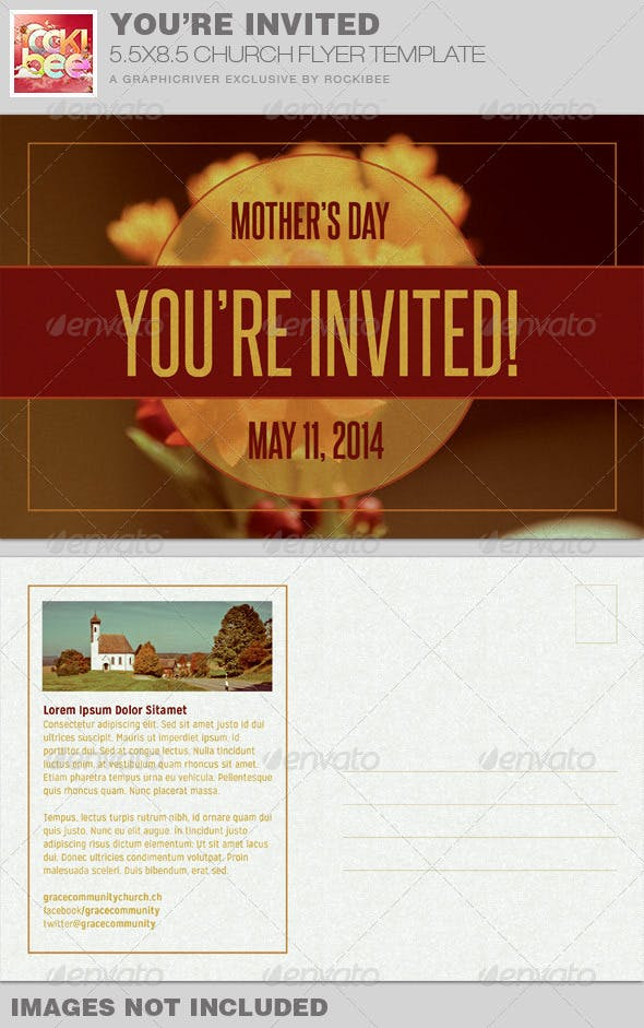 you re invited church flyer invite template by rockibee graphicriver