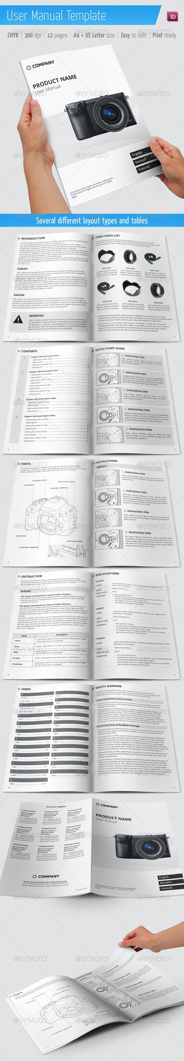 user manual template by camouslav graphicriver
