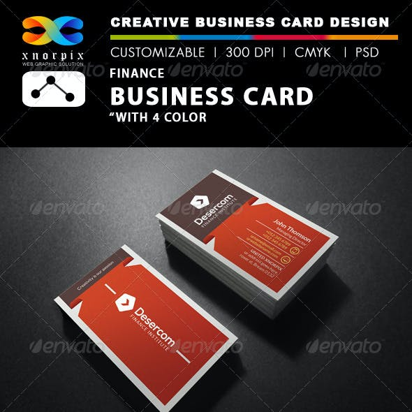 Finance Business Card Templates Designs From Graphicriver