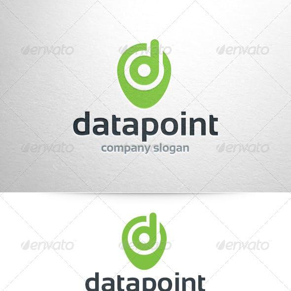 Data Point Letter D Logo