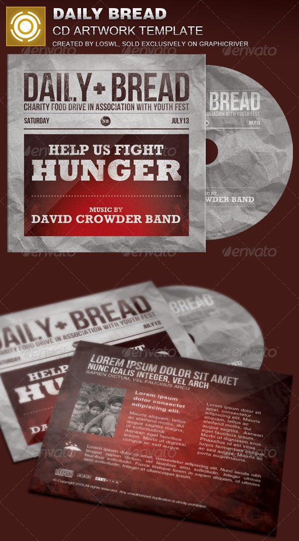 daily bread cd artwork template by loswl graphicriver