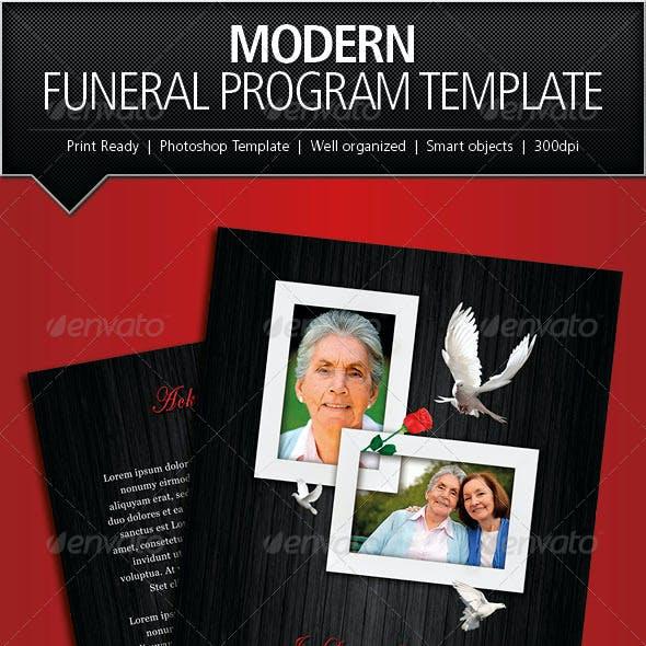 Modern Funeral Program Brochure Template By Designs4U