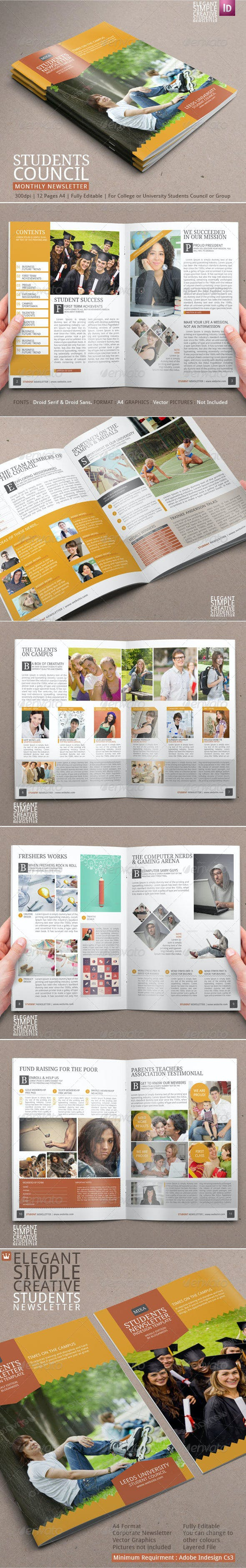 student newsletter template by blogankids graphicriver