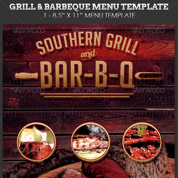 grill barbecue restaurant menu template by godserv graphicriver