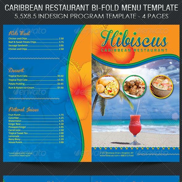 caribbean restaurant menu template by godserv graphicriver