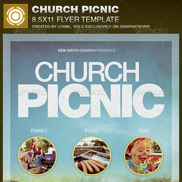 Picnic Flyer Graphics, Designs & Templates from GraphicRiver