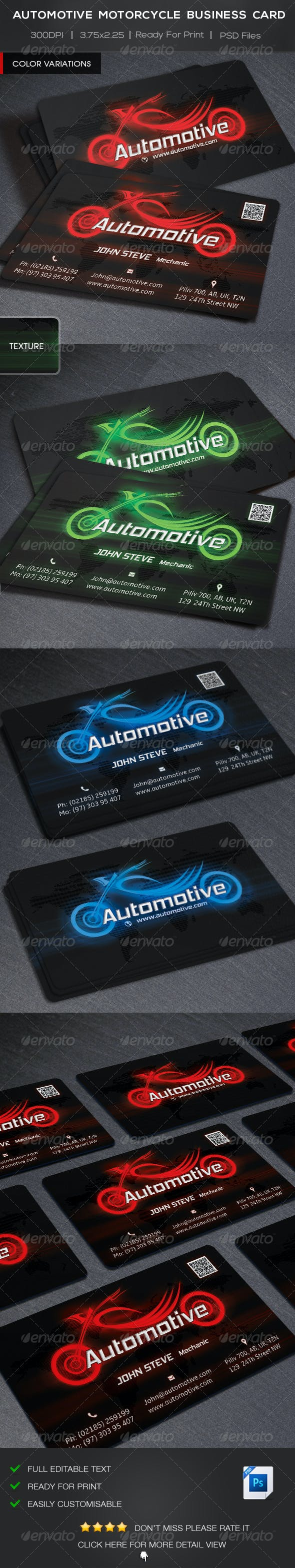 Automotive Motorcycle Business Card By Oksrider Graphicriver