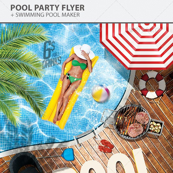 Pool Party Flyer Template Graphics Designs Templates