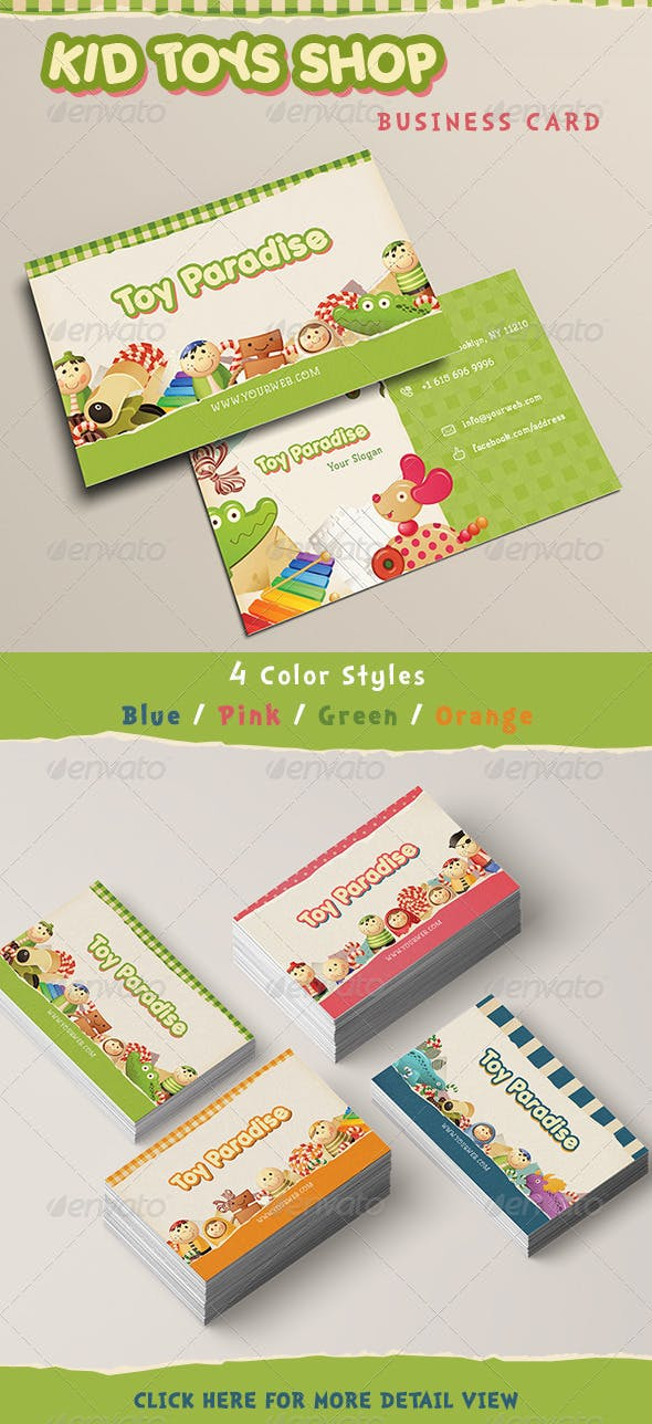Kid Toy Paradise Business Card By Iconsoul Graphicriver
