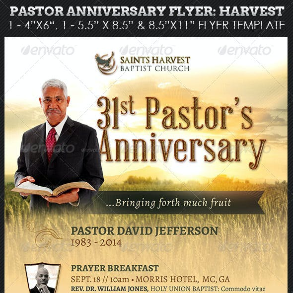 Pastor Anniversary Program Graphics, Designs & Templates