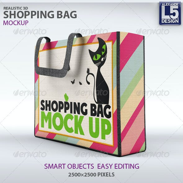 shopping bag mockup graphics designs templates